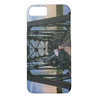 橋のヴィンテージ旅行交通機関の列車 iPhone 8/7ケース