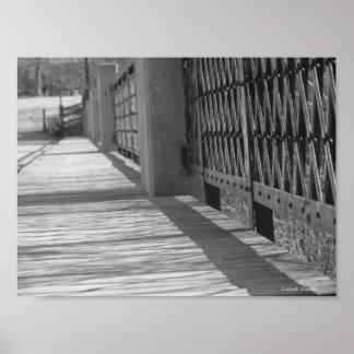 橋の眺め ポスター