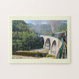 橋の蒸気の列車 ジグソーパズル