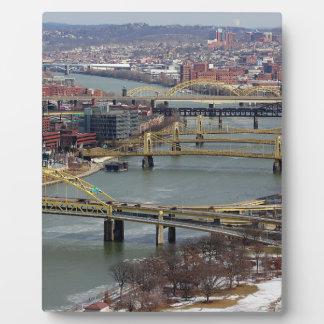 橋の都市 フォトプラーク