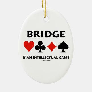 橋はです知的なゲーム(4つのカードのスーツ) セラミックオーナメント
