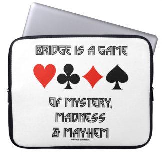橋はミステリー狂気および身体傷害のゲームです ラップトップスリーブ
