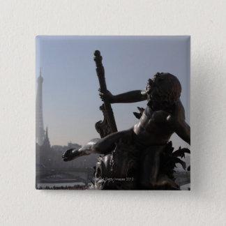 橋アレグサンダーIII/Paris 5.1cm 正方形バッジ