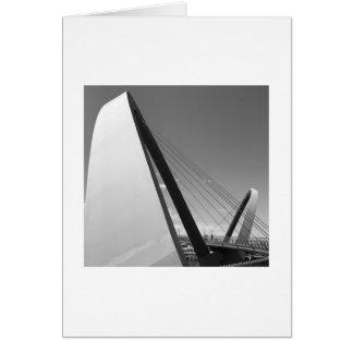 橋カードの白黒写真 カード