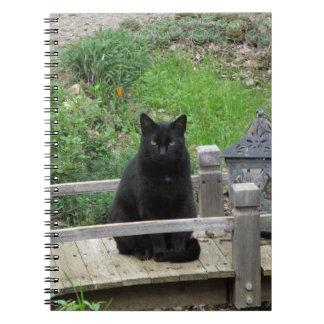 橋ノートの黒猫 ノートブック