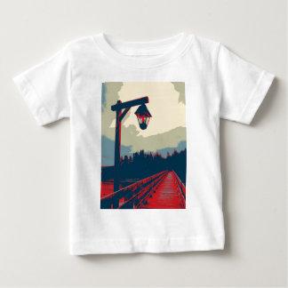 橋上のライト ベビーTシャツ