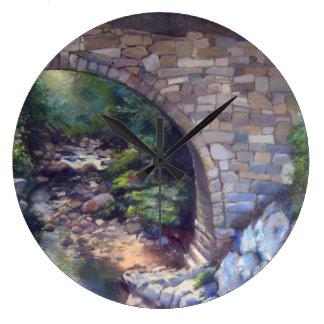 橋入り江 ラージ壁時計