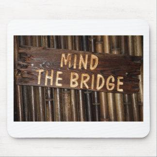 橋木の印を気にして下さい マウスパッド
