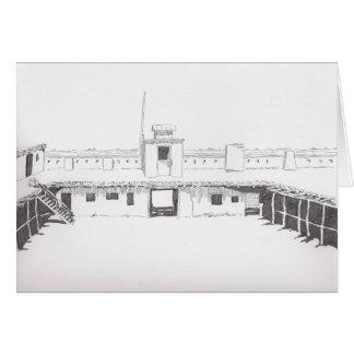 橋脚の城砦の挨拶状 カード
