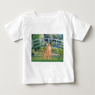 橋-オレンジ虎猫のSH猫46 ベビーTシャツ