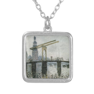 橋、クロード・モネ著アムステルダム シルバープレートネックレス