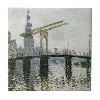 橋、クロード・モネ著アムステルダム タイル