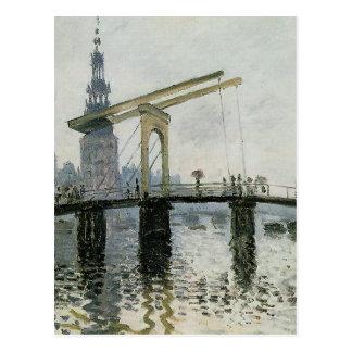 橋、クロード・モネ著アムステルダム ポストカード
