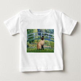 橋-シールポイントシャム猫 ベビーTシャツ