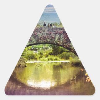 橋 三角形シール