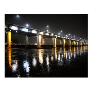 橋、雨、ソウル ポストカード