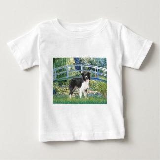 橋(Monet) -ボーダーコリー ベビーTシャツ