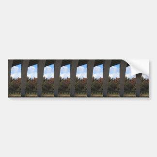 橋Skyview Geenの紅葉のテンプレートDIYのおもしろい バンパーステッカー