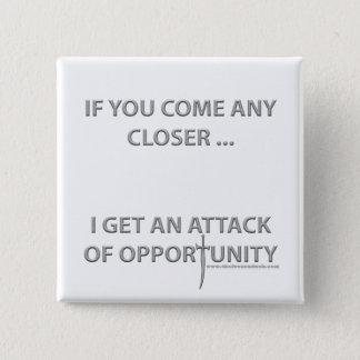 機会の攻撃 5.1CM 正方形バッジ
