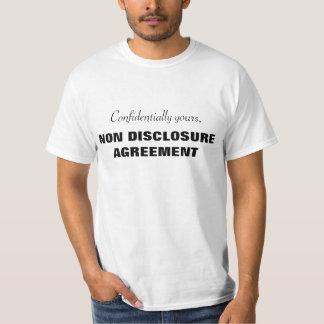 機密にあなたのの非発表の一致 Tシャツ