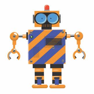 機械ロボット漫画 写真彫刻(台付き)