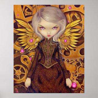 機械天使IIのsteampunkの妖精の芸術のプリント プリント