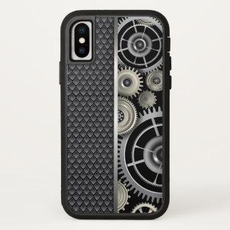 機械工学者のギアおよび網パターン iPhone X ケース