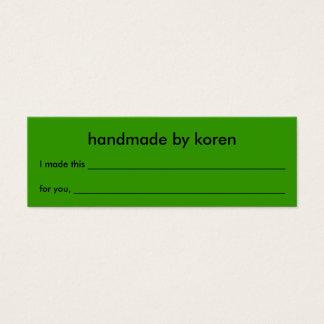 機械洗濯できる項目ギフトのラベル スキニー名刺