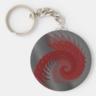 機械貝。 赤いおよび灰色のデジタルArt. キーホルダー