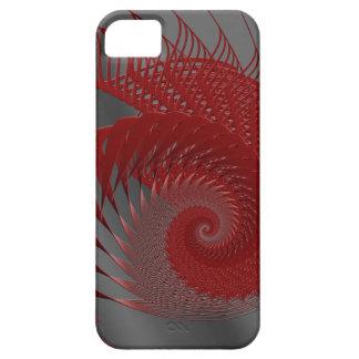 機械貝。 赤いおよび灰色のデジタルArt. iPhone SE/5/5s ケース