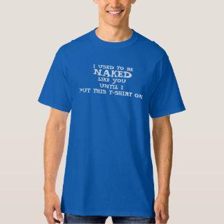 機知に富んだ人の「私は露出した」Tシャツであるのが常でありました Tシャツ