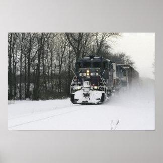 機関車180のバラ色の小山ラインはIを編集します ポスター