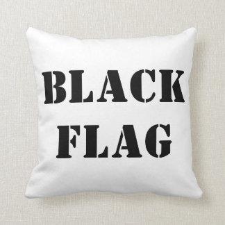 機関銃ケリーMGKの黒い旗の枕 クッション