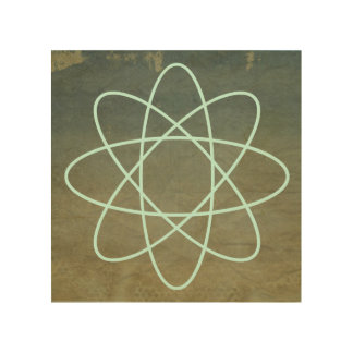 欠かれたペンキのSeafoam原子 ウッドウォールアート