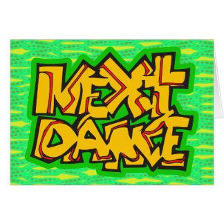 次のダンス カード
