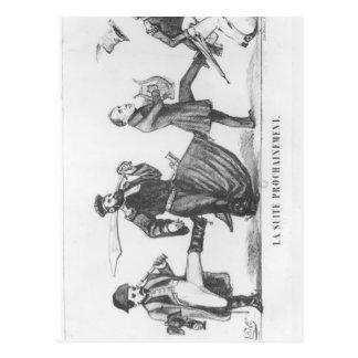 次の従者、1848年12月20日 ポストカード