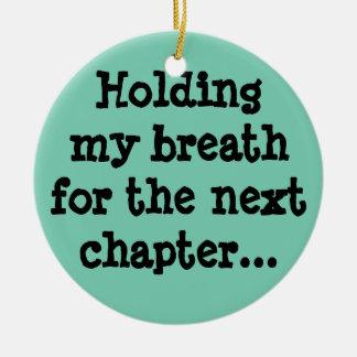 次の章のための私の呼吸を握ります… セラミックオーナメント