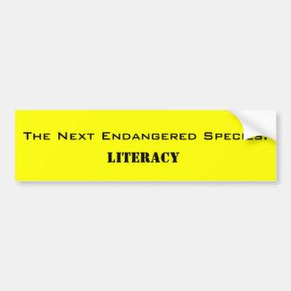 次の絶滅危ぐ種: 、読み書き能力 バンパーステッカー