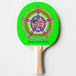 次テールゲートのテーブルの眺めに一致させる愛国心が強いハート 卓球ラケット