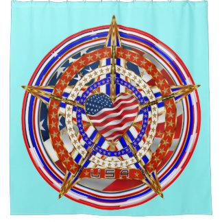 次デザインについての愛国心が強いハートの重要な眺め シャワーカーテン