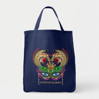 次デザインについての謝肉祭のカジノの女王の読書 トートバッグ