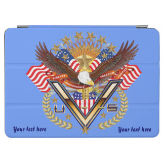 次デザインについての退役軍人の愛国心が強い眺め iPad AIR カバー