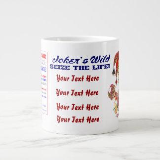 次ベガスのジョーカーのジャンボ眺めの大きいイメージ ジャンボコーヒーマグカップ