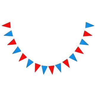 """次元: (16) 5.5"""" x 8""""旗; 6'長く赤い青 バンティングフラッグ"""