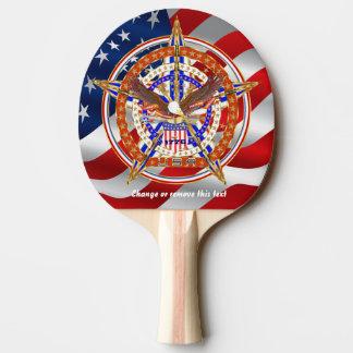 次愛国心が強い米国の一致のテールゲートのテーブルの眺め 卓球ラケット