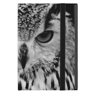 欧亜のワシフクロウのポートレートの上で閉めて下さい iPad MINI ケース