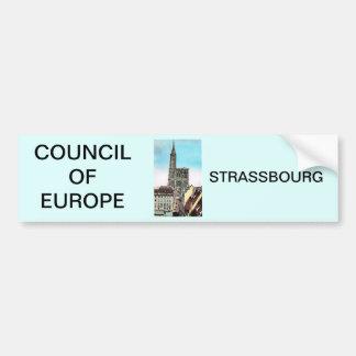 欧州理事会、Strassbourg バンパーステッカー