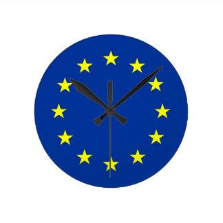 欧州連合のヨーロッパの国旗の時計 ラウンド壁時計