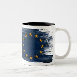 欧州連合の旗のマグ ツートーンマグカップ