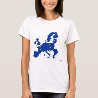 欧州連合の旗の地図 Tシャツ